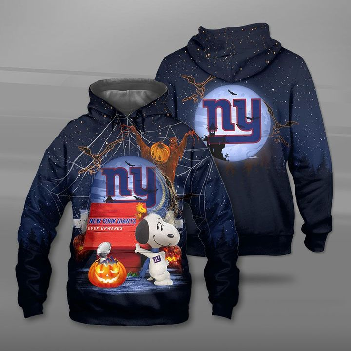 New york giants ever upwards snoopy full printing hoodie