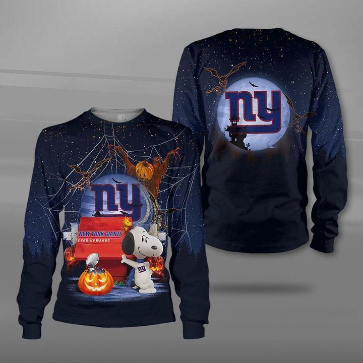 New york giants ever upwards snoopy full printing sweatshirt