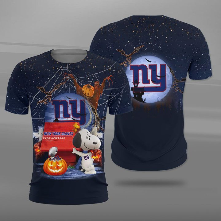 New york giants ever upwards snoopy full printing tshirt