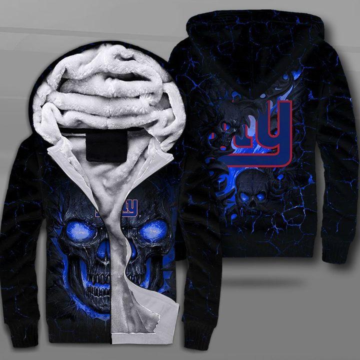 New york giants lava skull full printing fleece hoodie