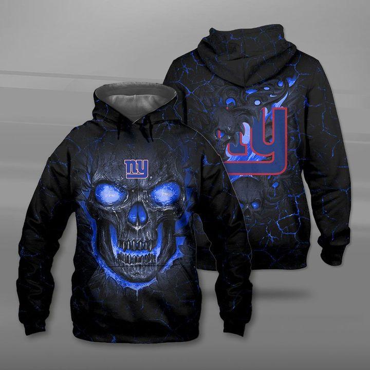 New york giants lava skull full printing hoodie