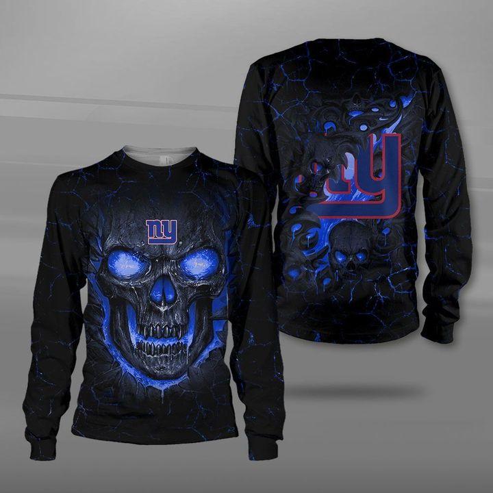 New york giants lava skull full printing sweatshirt