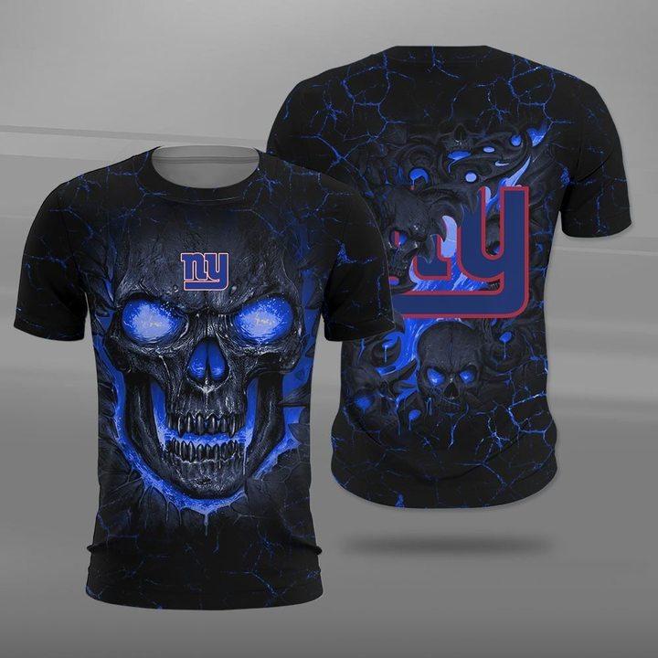 New york giants lava skull full printing tshirt