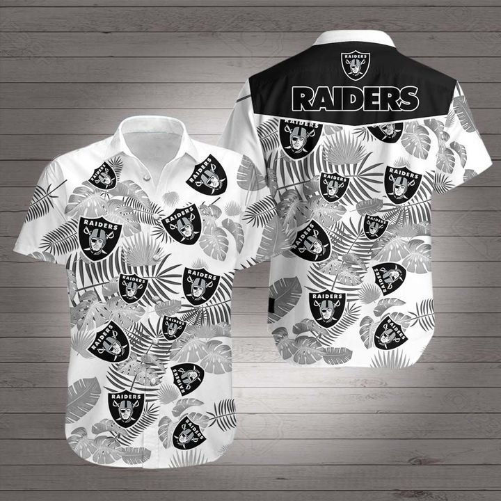 Oakland raiders hawaiian shirt 3