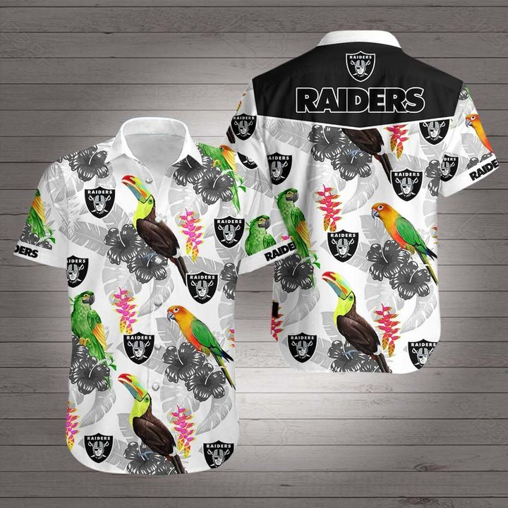 Oakland raiders team hawaiian shirt 1