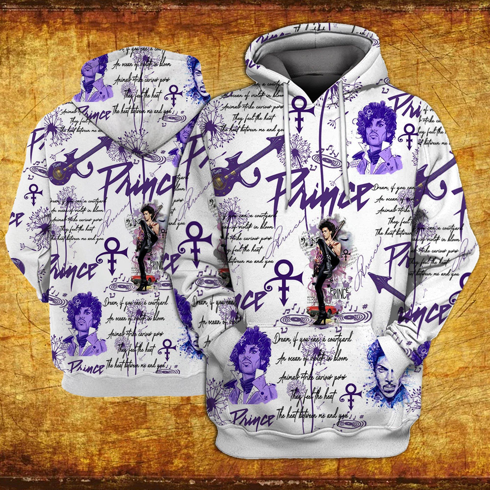 Prince all over printed hawaiian hoodie