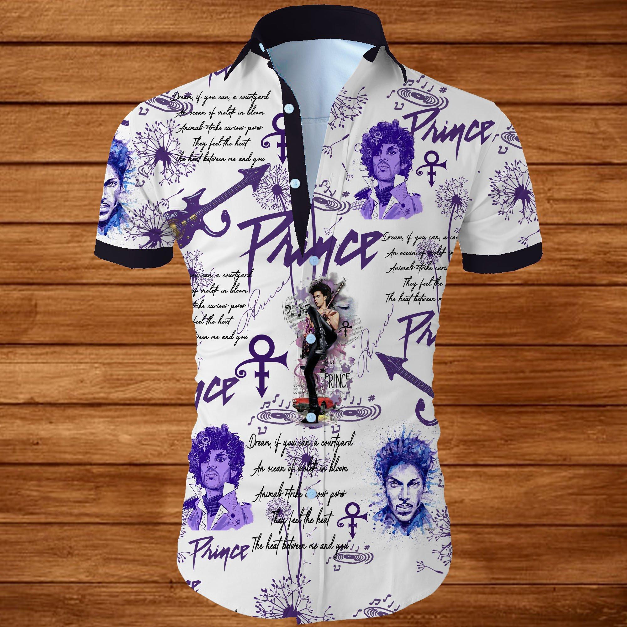 Prince all over printed hawaiian shirt 1