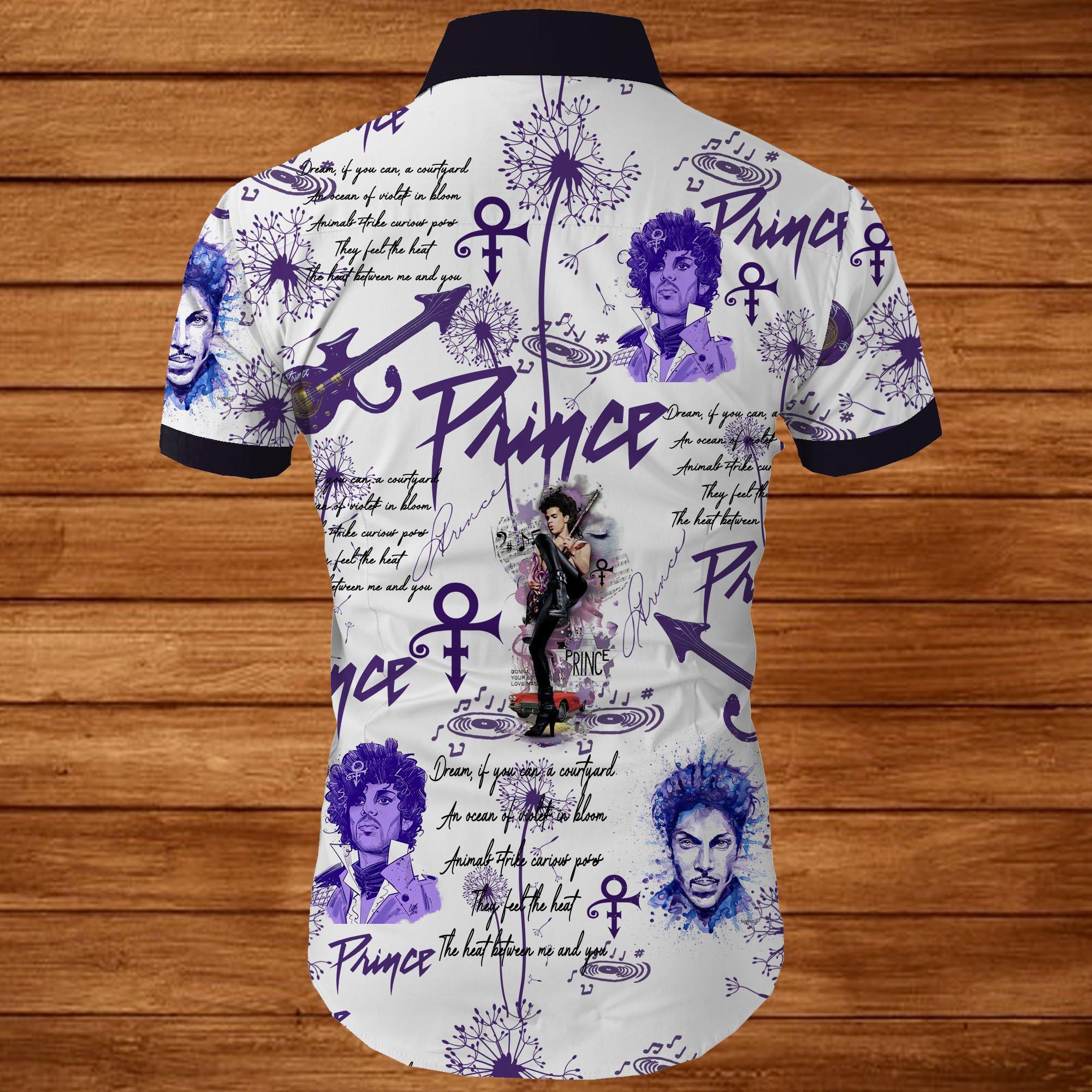 Prince all over printed hawaiian shirt 2