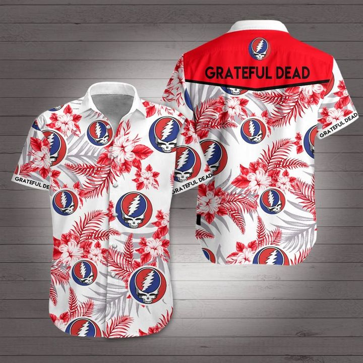 Rock band grateful dead hawaiian shirt 1