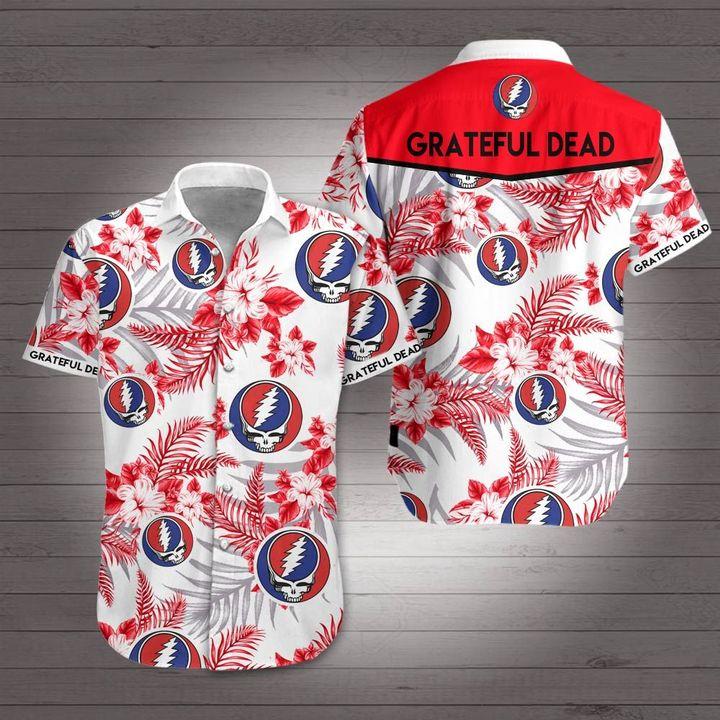 Rock band grateful dead hawaiian shirt 2