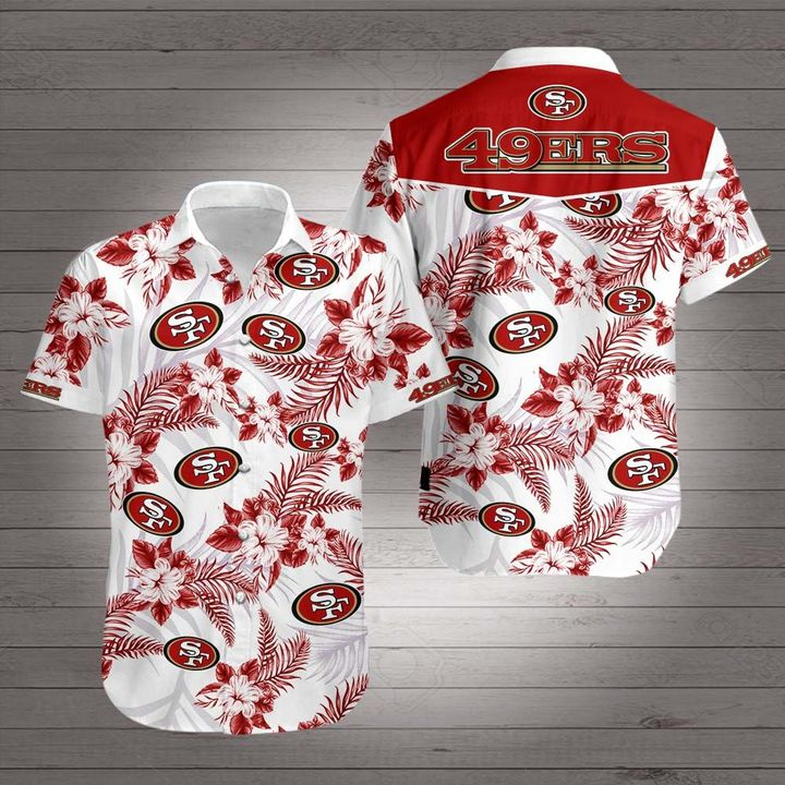 San francisco 49ers team hawaiian shirt 4