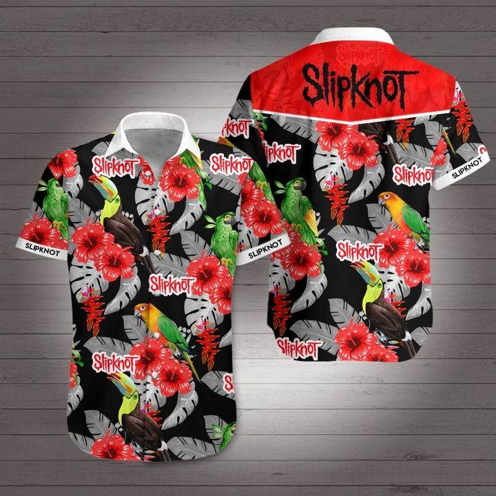 Slipknot rock band hawaiian shirt 1
