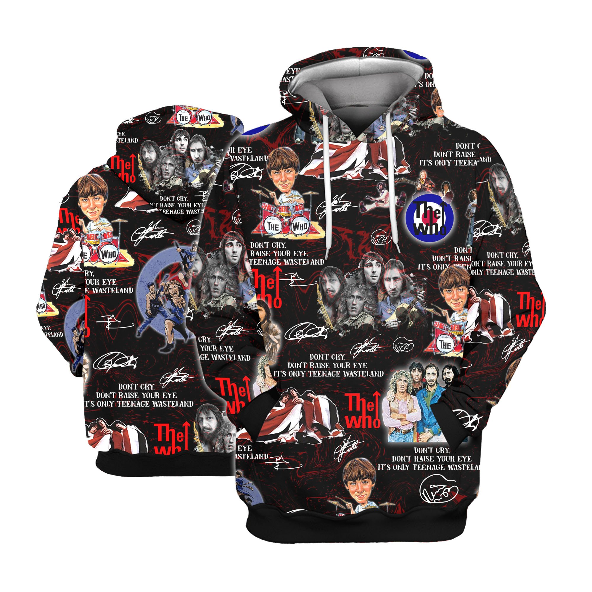 The who all over printed hawaiian hoodie