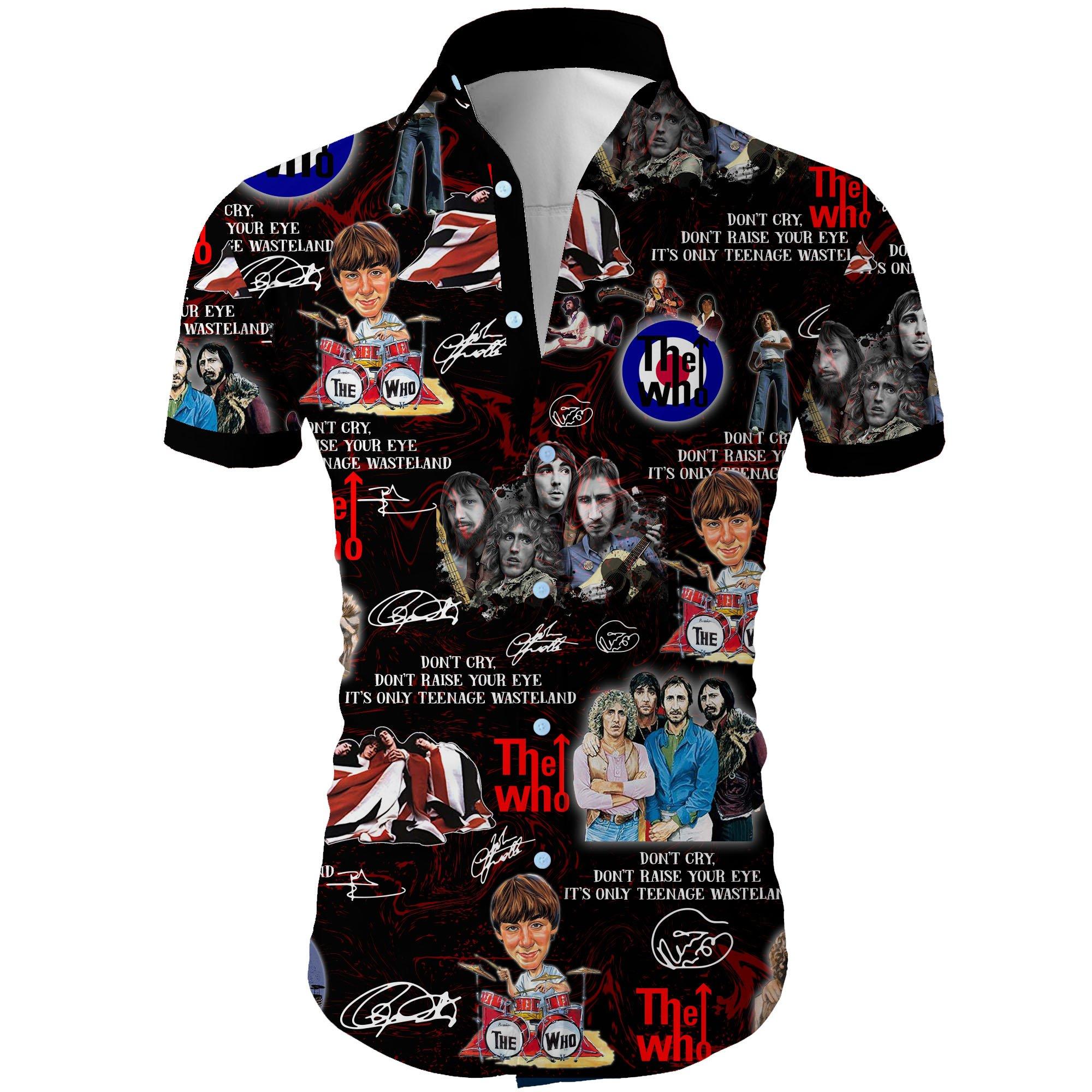The who all over printed hawaiian shirt 1