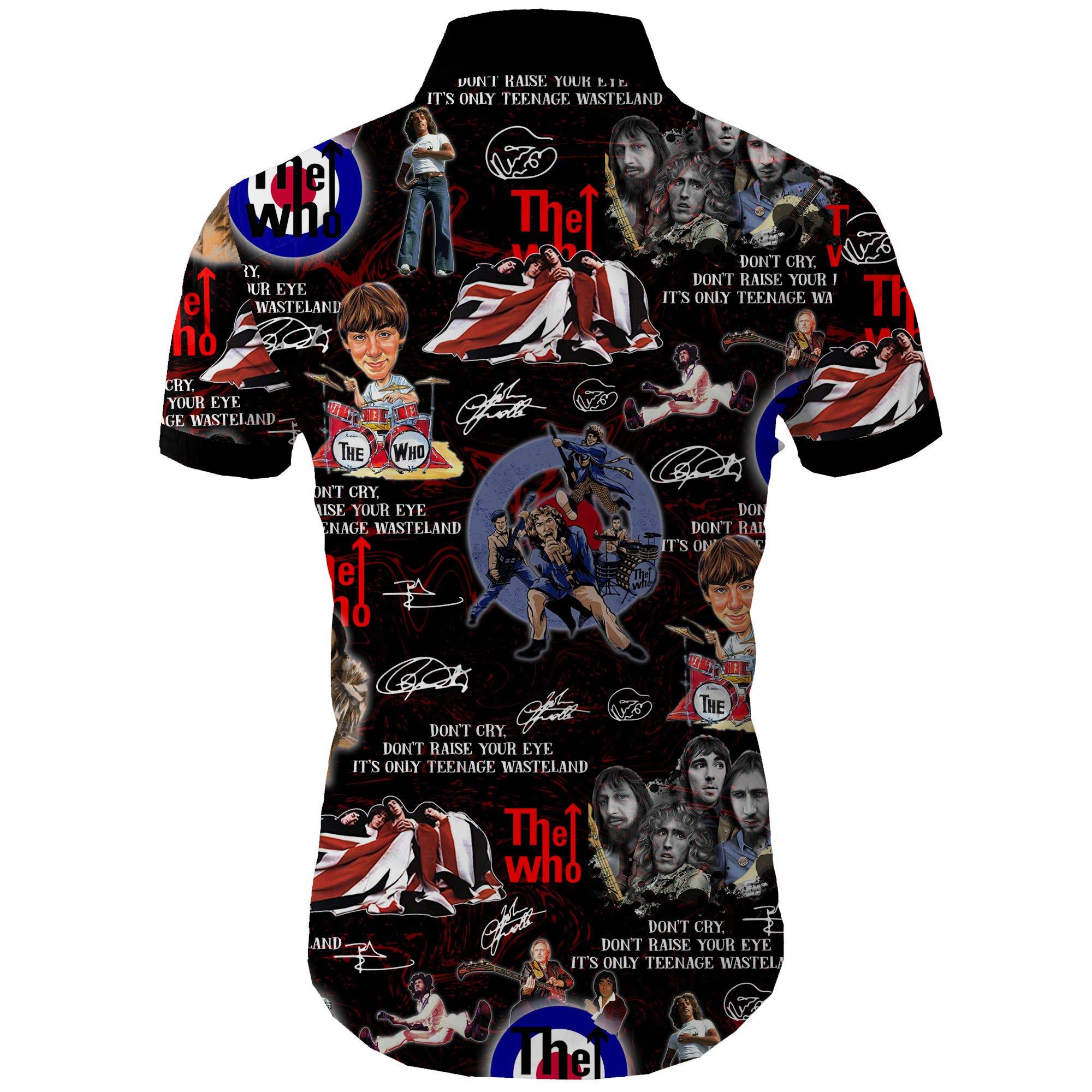 The who all over printed hawaiian shirt 2