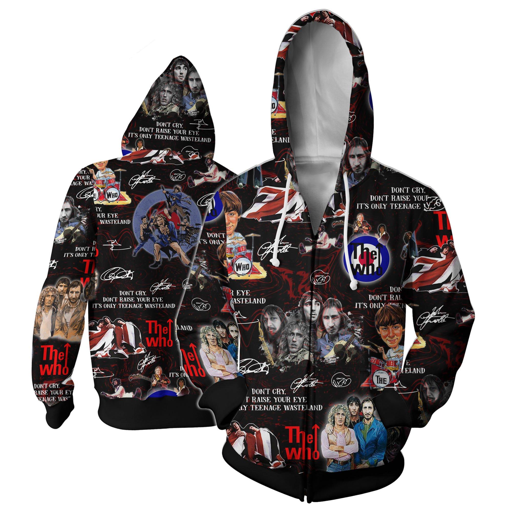 The who all over printed hawaiian zip hoodie