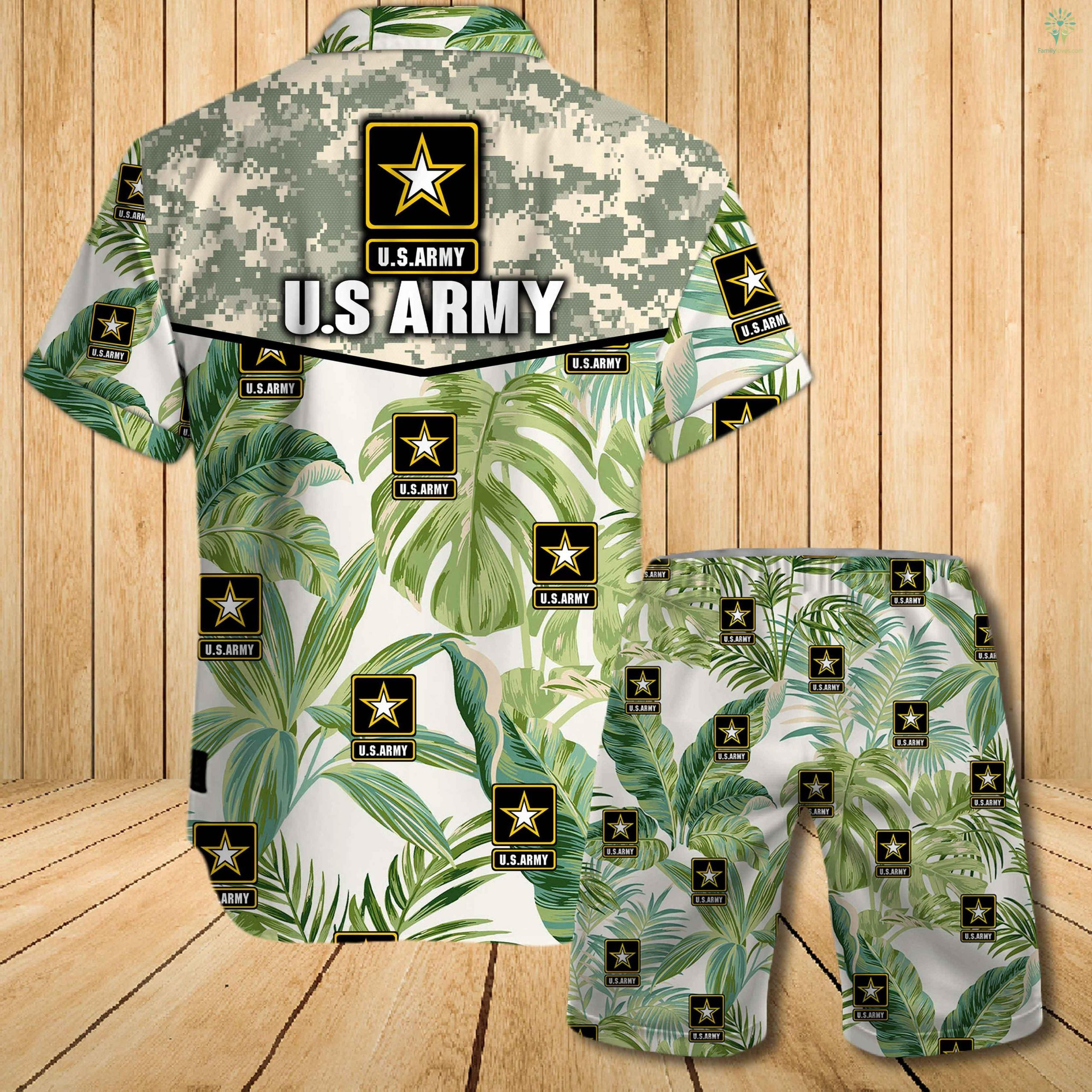 US army all over printed hawaiian shirt 1