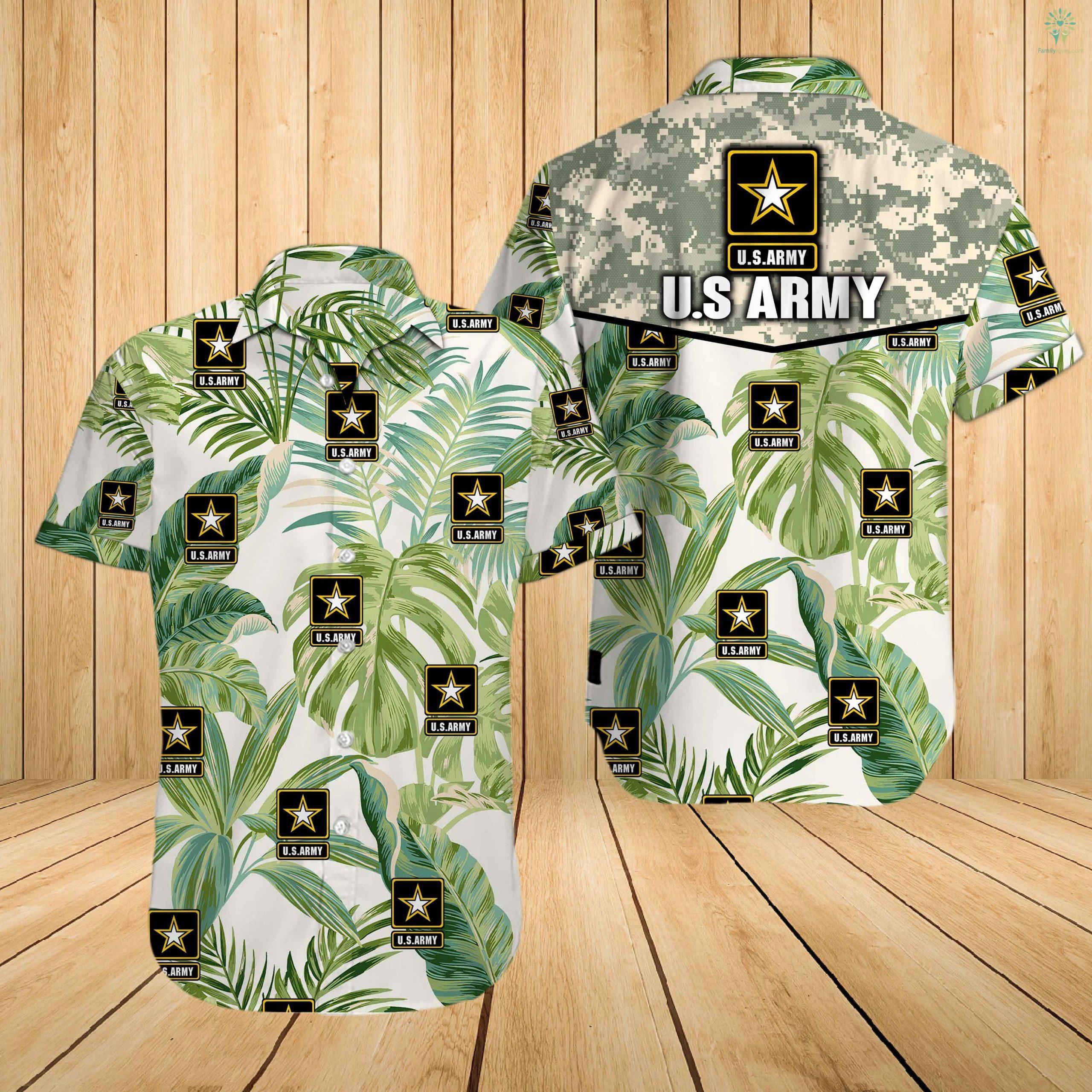 US army all over printed hawaiian shirt 2