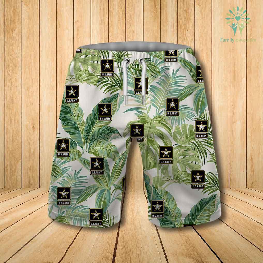 US army all over printed hawaiian shorts 1