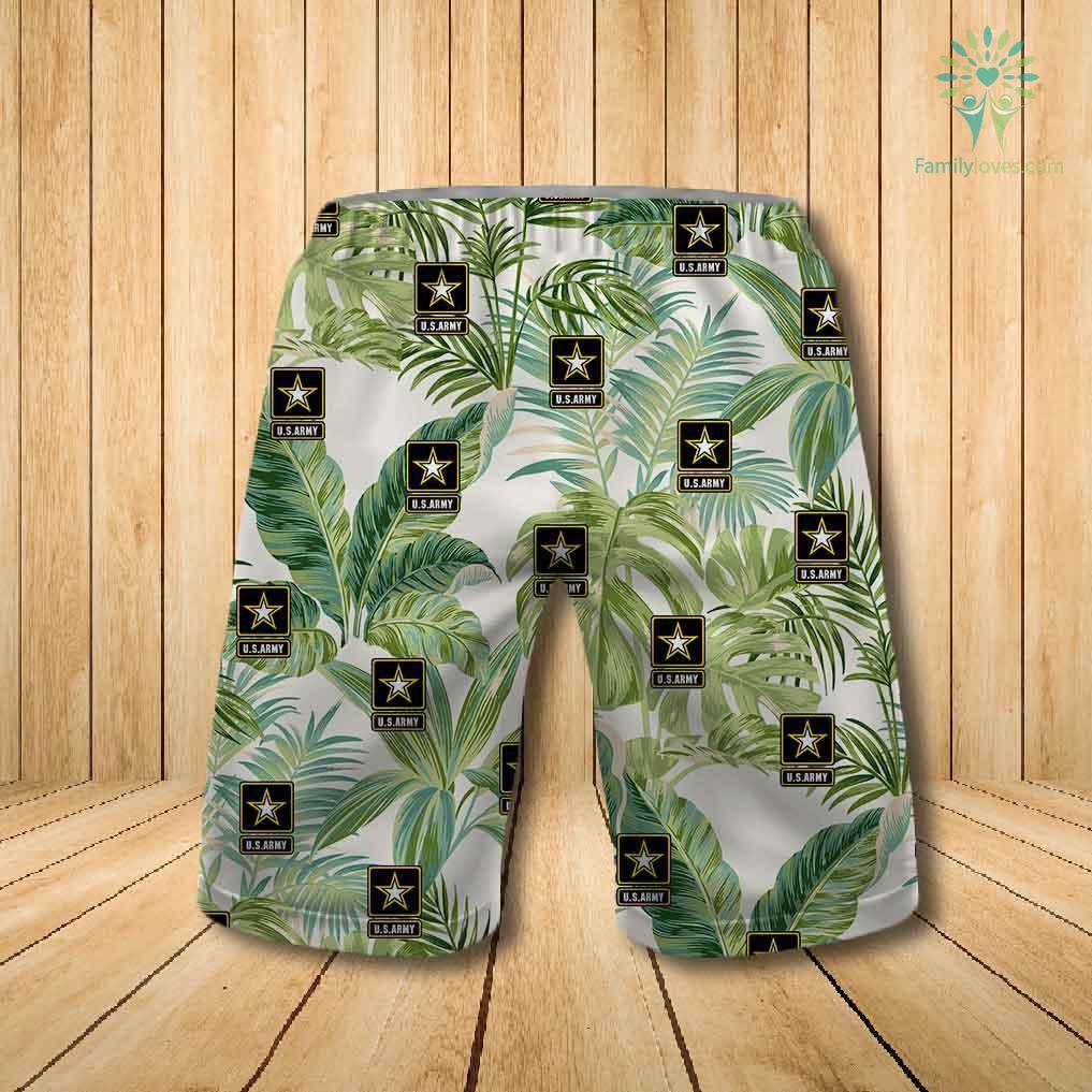 US army all over printed hawaiian shorts