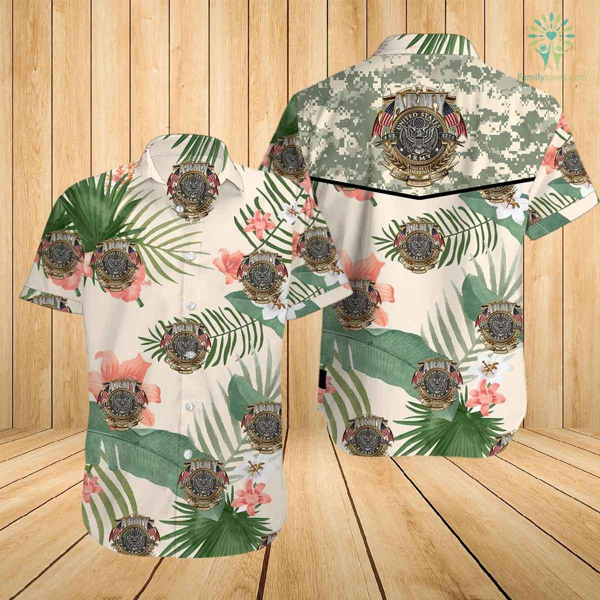 US army this we'll defend since 1775 honor service sacrifice all over printed hawaiian shirt 2