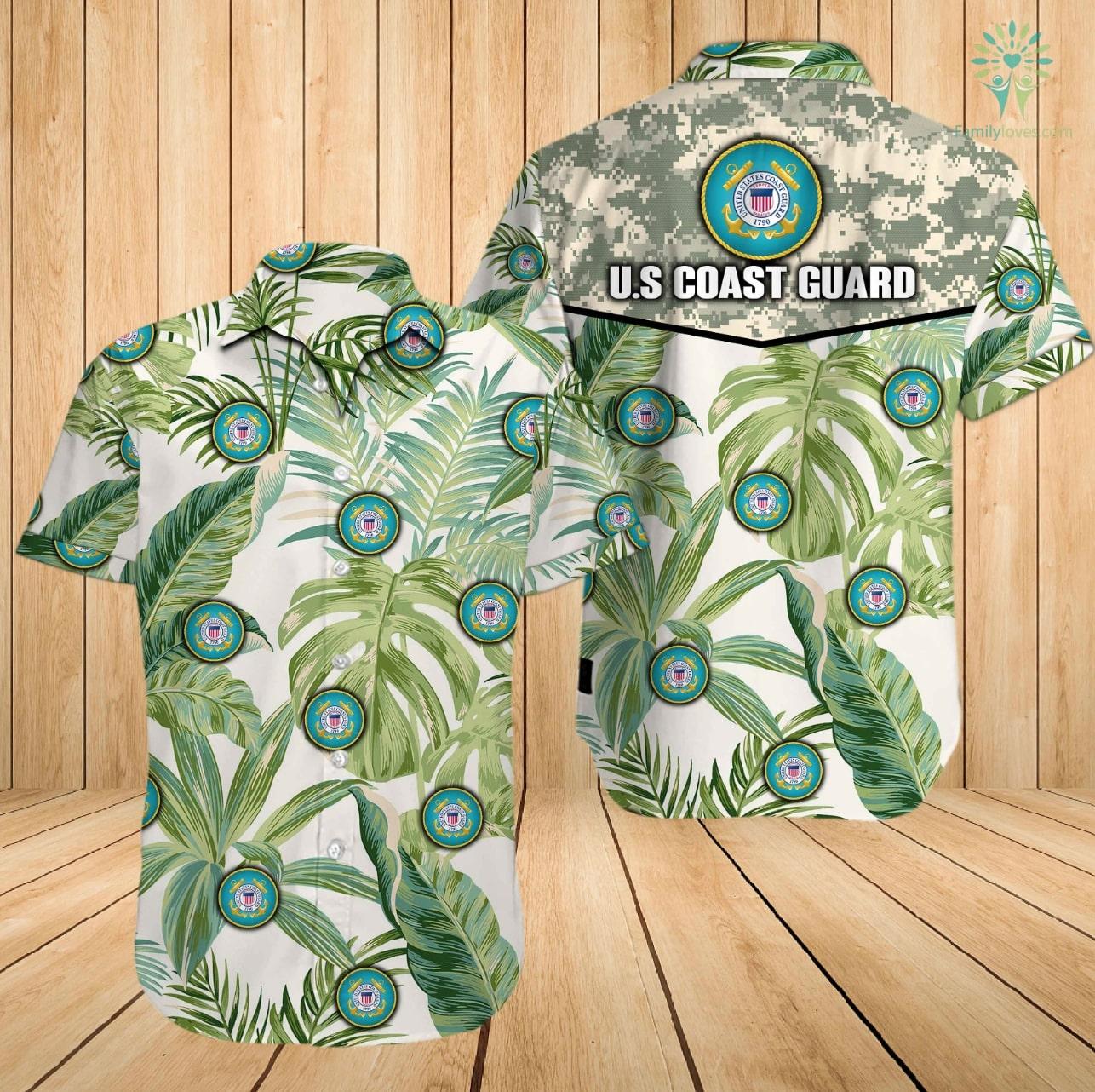 US coast guard all over printed hawaiian shirt 2