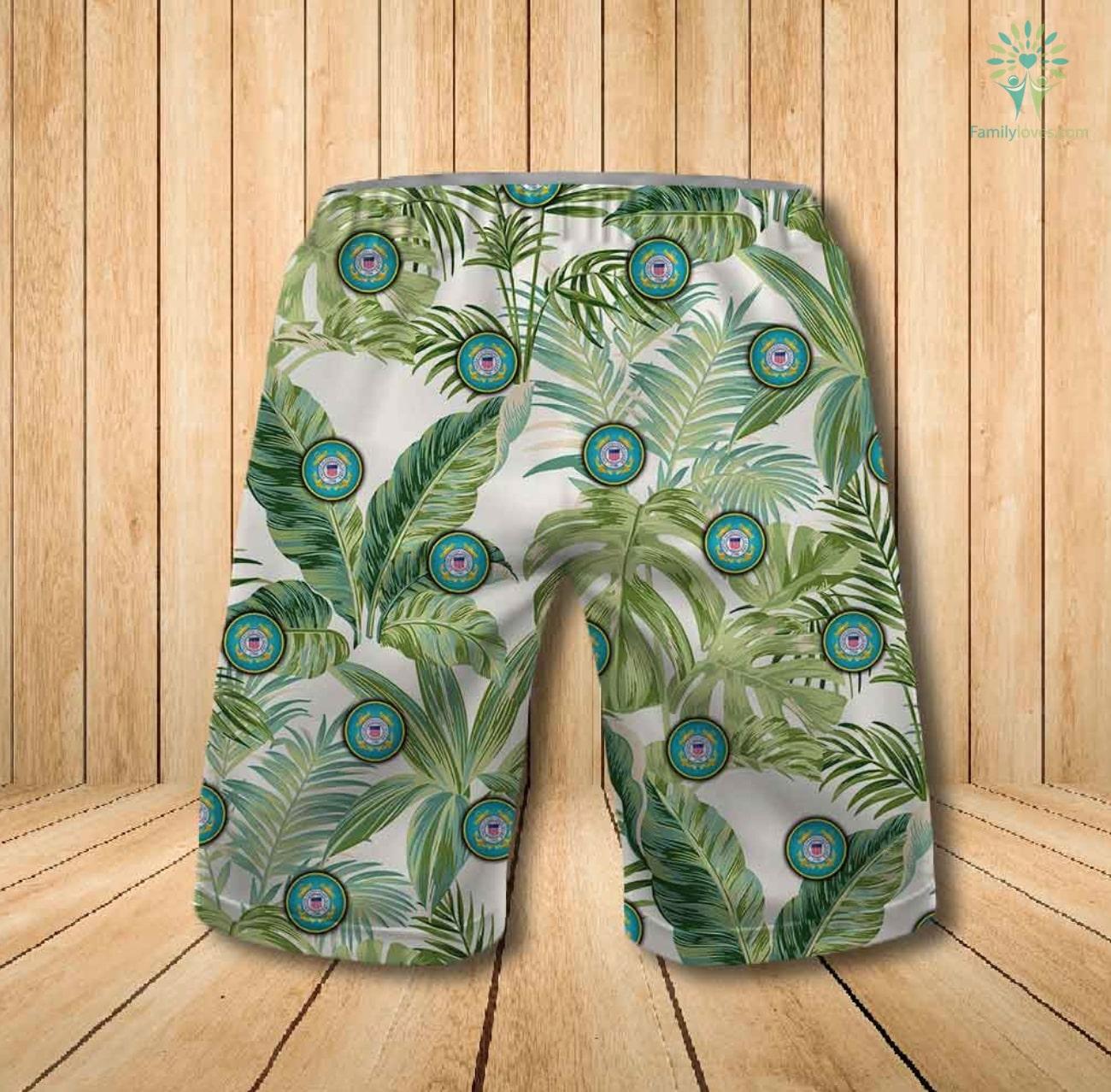 US coast guard all over printed hawaiian shorts 1