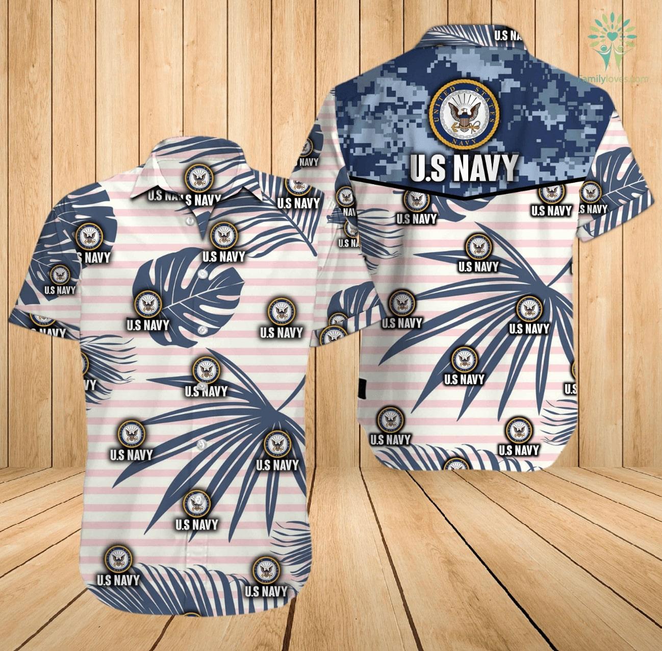 US navy all over printed hawaiian shirt 2