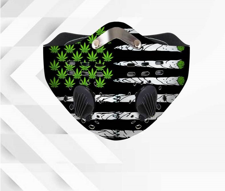 420 american flag anti pollution filter activated carbon face mask 3