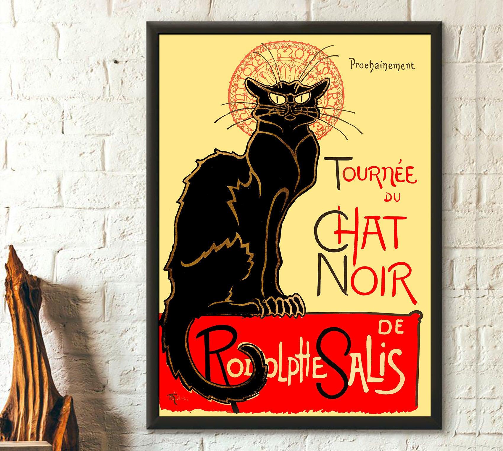 Black cat rodolphe salis le chat noir poster 1