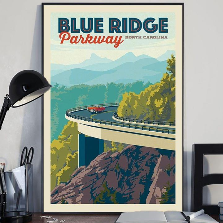 Blue ridge parkway north carolina poster 2