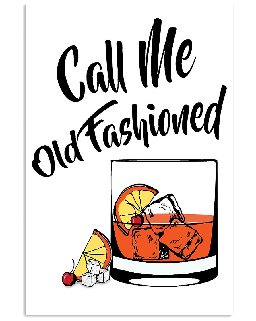 Call me old fashioned vertical drink cocktail poster 3