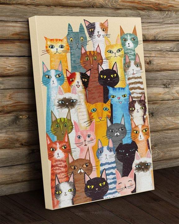 Cats drawing for cat lover poster 1