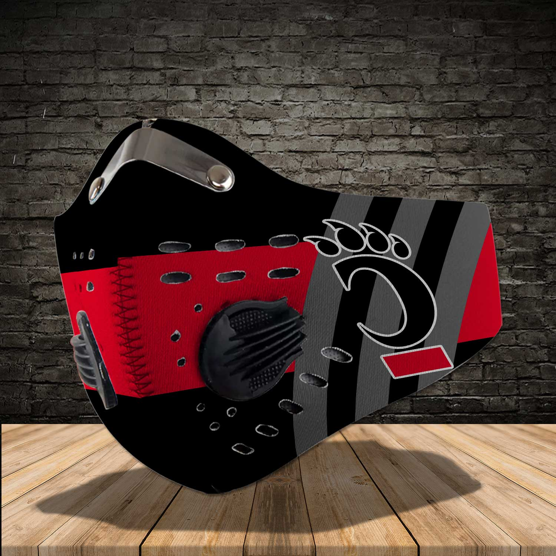 Cincinnati bearcats men's basketball carbon filter face mask 1