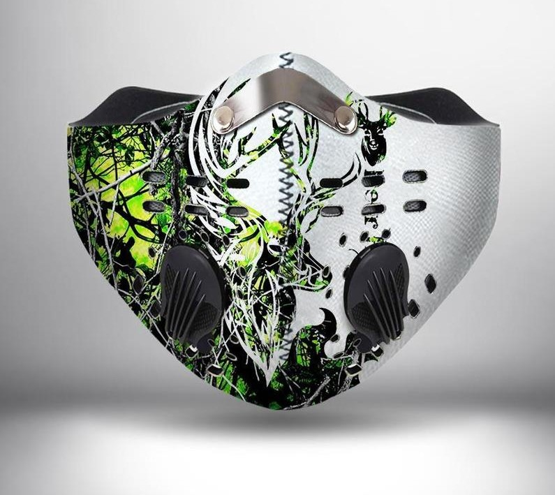 Country girl deer camo green anti pollution face mask 1