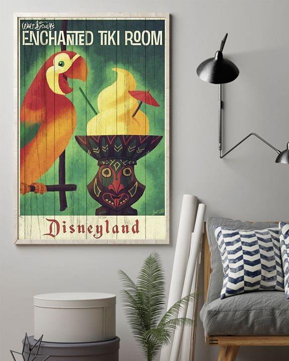 Disneyland enchanted tiki room retro poster 2