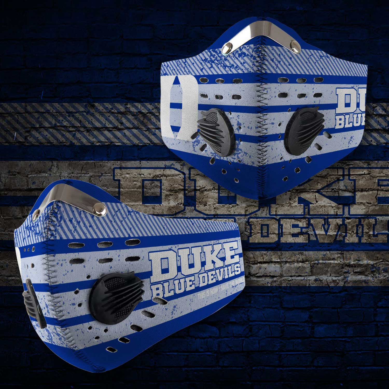 Duke blue devils men's basketball this is how i save the world face mask 1