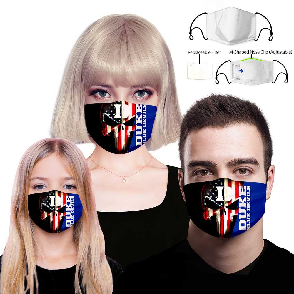 Duke blue devils punisher full printing face mask 1