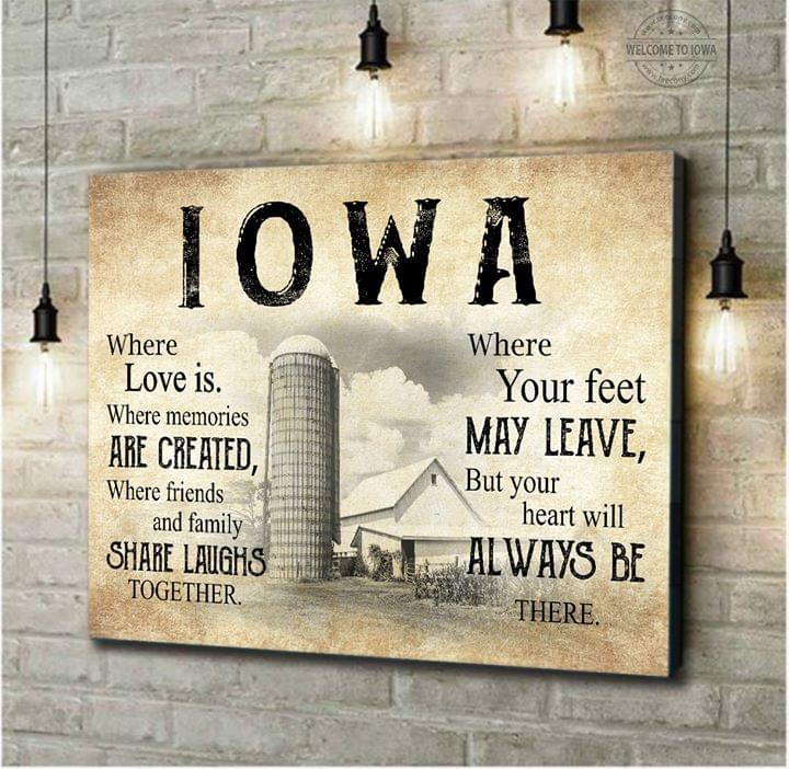 Farm iowa where is love whre memories are created poster 1