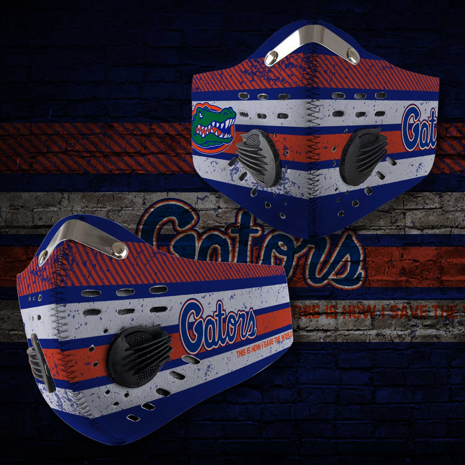 Florida gators this is how i save the world carbon filter face mask 1