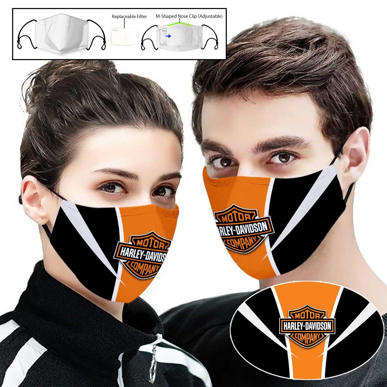 Harley-davidson motorcycle full printing face mask 1