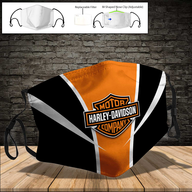 Harley-davidson motorcycle full printing face mask 3