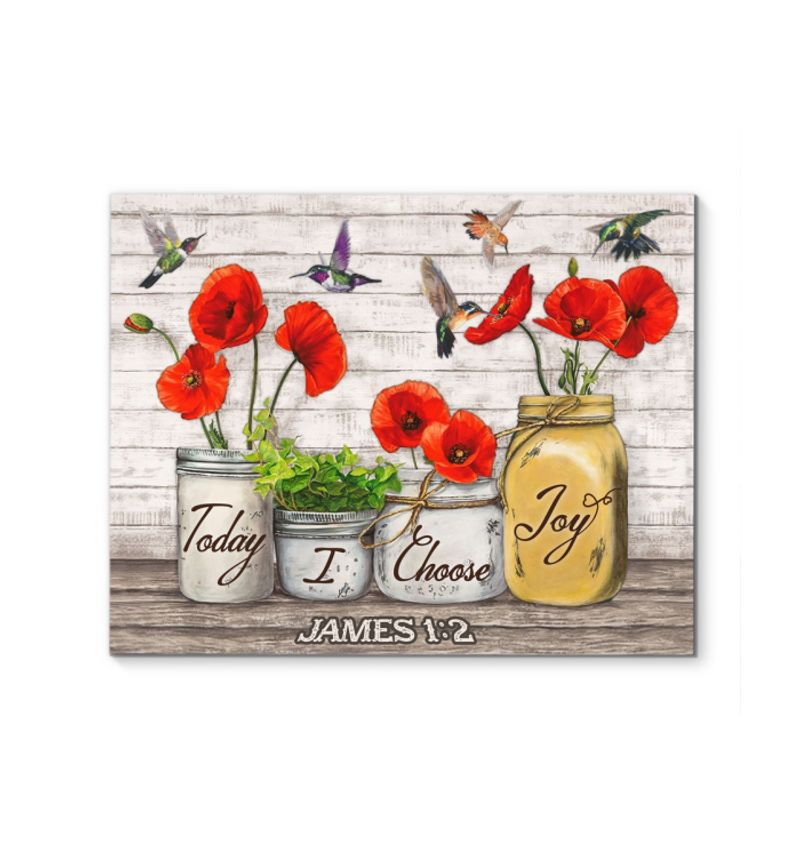 Hummingbird today i choose joy james 1 2 poster 4