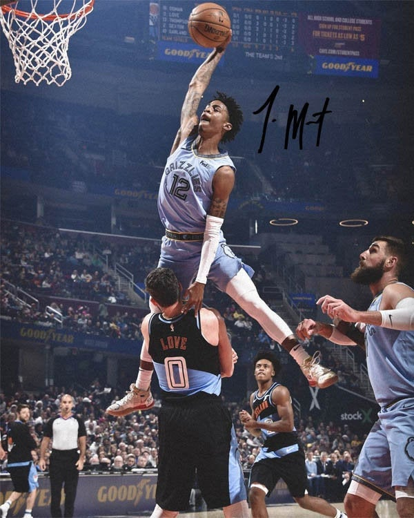 Ja morant memphis grizzlies over kevin poster 3