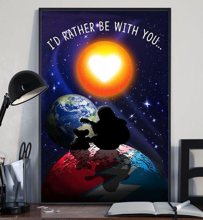 Jerry garcia remembering id rather be with you poster 4