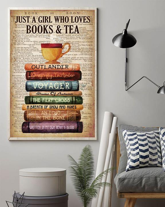Just a girl who loves books and tea outlander voyager the fiery cross vintage poster 3