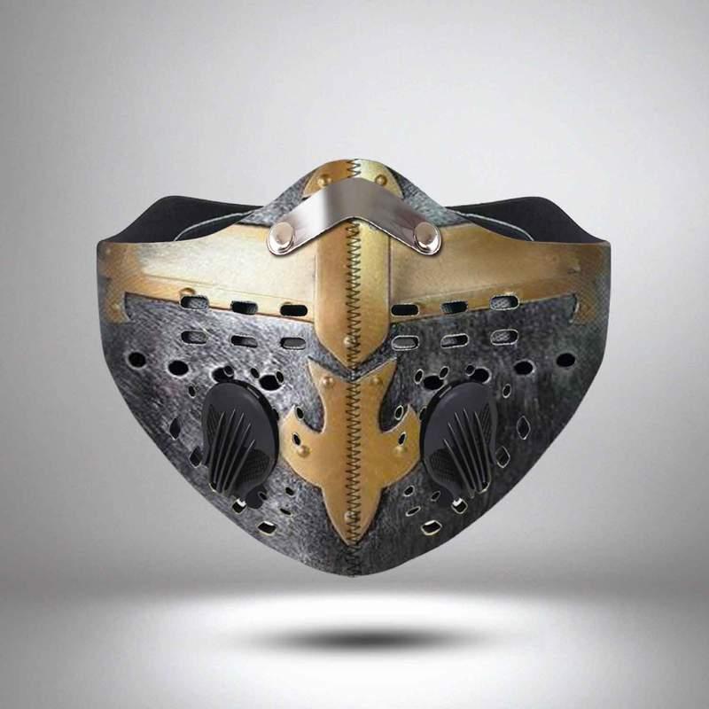 Knights templar helmet anti pollution face mask 3