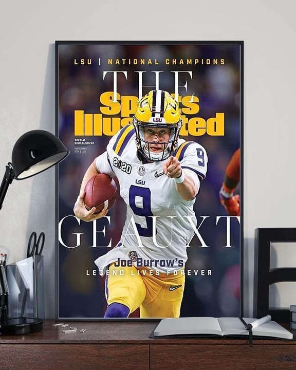 LSU tigers national champions the sport illustrated geauxt joe burrow's legend lives forever poster 2