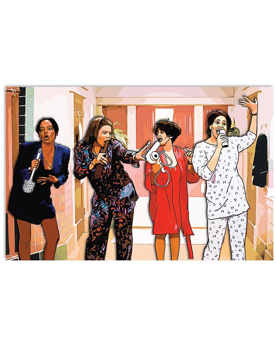 Living single tv series cartoon poster 2