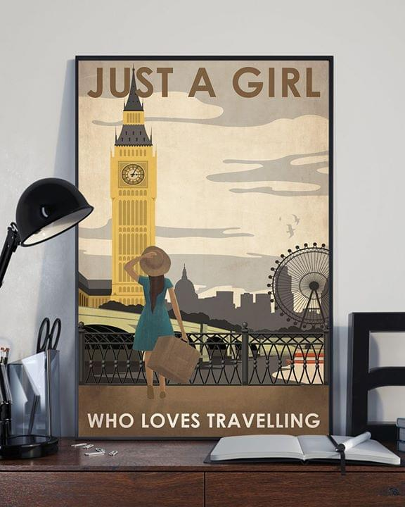 London big ben just a girl who loves traveling retro poster 1
